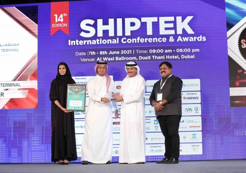 """RSGT is named """"Terminal Operator of the Year"""" for the middle east at the ShipTek 2021 International Conference"""